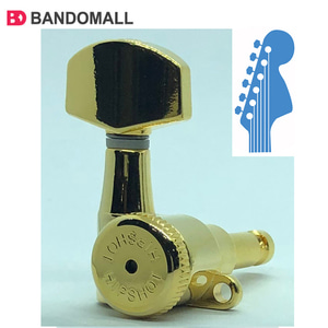 힙샷전기일렉기타헤드머신 6-inLine Headstocks Hipshot tuner upgade kit Grip-Lock Closed Gold (6string-1set)