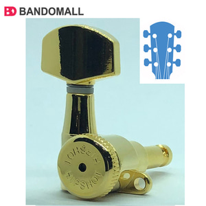 힙샷기타헤드머신 3+3 Headstocks Hipshot tuner upgade kit Grip-Lock Closed Gold (6string-1set)